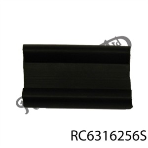 """BLACK RUBBER BACKING CHANNEL FOR TANK STRAP (2"""")"""