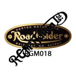ROADHOLDER BRASS FORK BADGE (RAISED LETTERS AS ORIGINAL WITH RIVETS) (1)