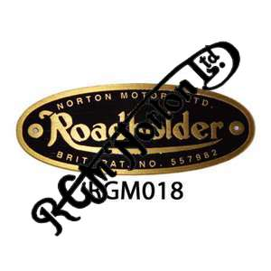 ROADHOLDER BRASS FORK BADGE (RAISED LETTERS AS ORIGINAL WITH RIVETS) (1)