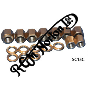 BARREL BASE NUTS & WASHERS, BSC, ALL 750 TWINS TO 1972