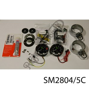 PAIR OF ELECTRONIC CLOCKS (SPEEDOMETER & TACHOMETER) WITH MOUNTS