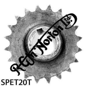 TWIN CYLINDER PRE COMMANDO ENGINE SPROCKET, TWINS, 20 TEETH