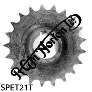 TWIN CYLINDER PRE COMMANDO ENGINE SPROCKET, TWINS, 21 TEETH