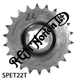 TWIN CYLINDER PRE COMMANDO ENGINE SPROCKET, TWINS, 22 TEETH
