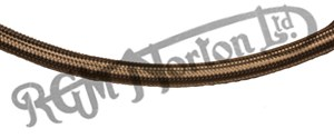 """BRAIDED STAINLESS BREATHER 1/2"""" BORE HOSE (PER FOOT)"""