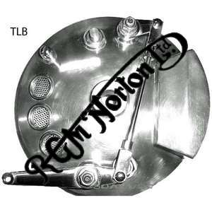 TWIN LEADER BRAKE IN POLISHED ALLOY WITH STAINLESS LINKAGE ARMS, CLEVIS FORKS