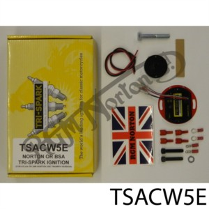 TRI-SPARK SELF TEST ELECTRONIC IGNITION KIT ANTI CLOCKWISE ROTATION NORTON & BSA