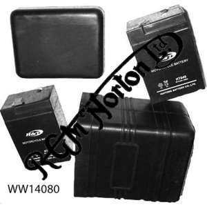 RUBBER BATTERY CASE WITH 2 DRY CELL BATTERIES MAKES 6 OR 12 VOLTS