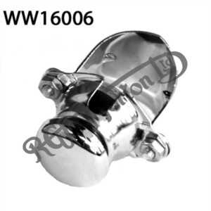 UNIVERSAL HORN BUTTON, CHROME PLATED (CLAMP ON)