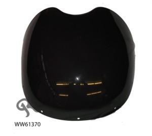 SMALL BLACK UNIVERSAL HANDLEBAR SPORTS FAIRING, WITH SMOKED SCREEN & FIXING KIT