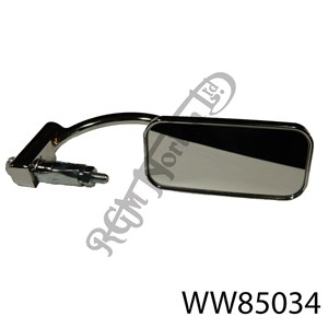 BAR END MIRROR WITH SMALL RECTANGULAR LENS