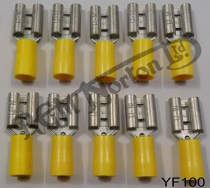 YELLOW FEMALE SPADE CONNECTOR 10MM