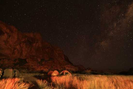 Camping under the stars - 2011 Damaraland Challenge4aCause Cycle