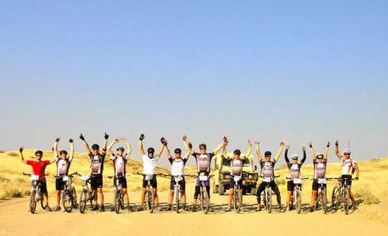 The Challenge4aCause participants -2011 Damaraland Challenge4aCause Cycle