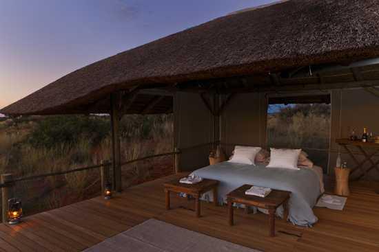 Sleep out in the wild of the Kalahari