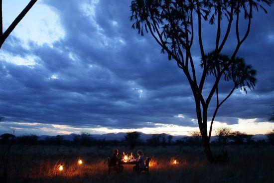 Enjoy al fresco dinner at Elsa's Kopje, Samburu National Reserve