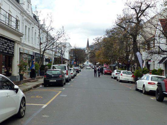 Charming Dorp Street in Stellenbosch