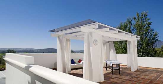 Relax under the shade of the gazebo