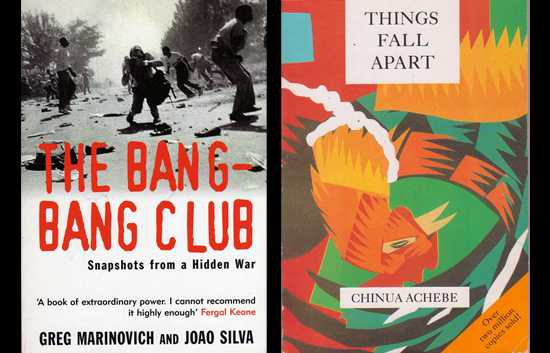 Bang Bang Club and Things Fall Apart book covers