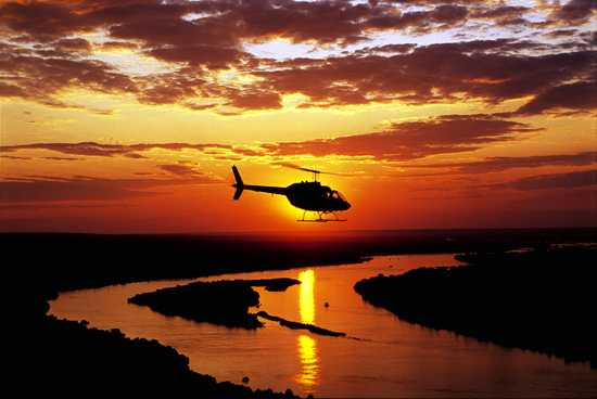 Victoria Falls by helicopter