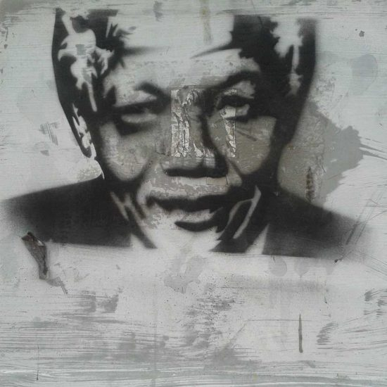 Graffiti artists have taken to the streets to honour Madiba - Photographed in Kloof Street, Cape Town