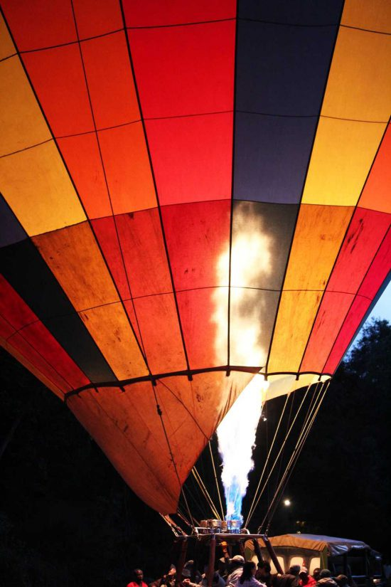 Our sunrise balloon safari was a definite highlight