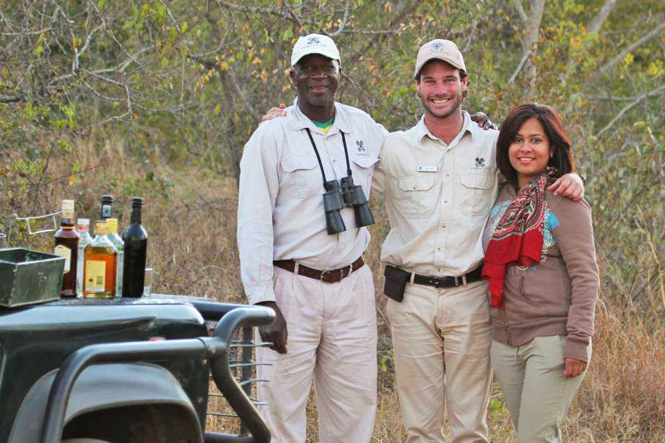 """At a drinks stop during our game drive"""