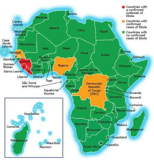 Ebola Karte Afrika