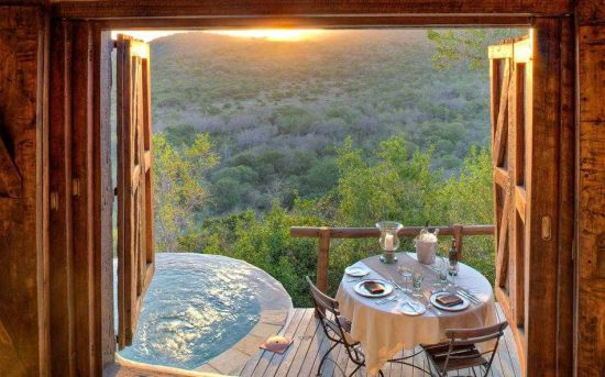 A spectacular view from a suite in Phinda, South Africa