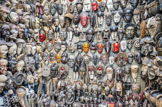 An array of masks