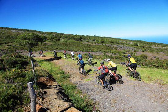 Mountain biking at Reunion Island