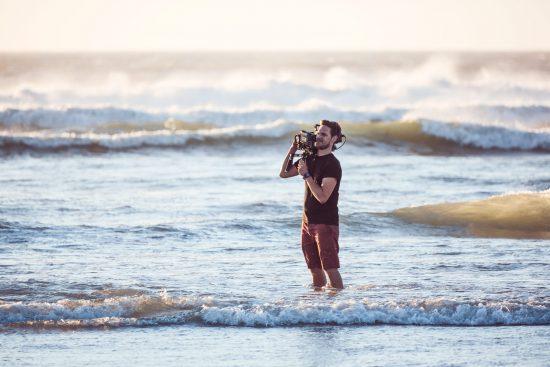 Cameraman in the sea