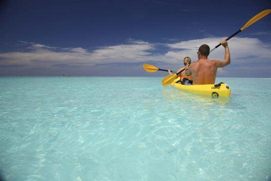 Kayaking at Mnemba Island Lodge, Zanzibar