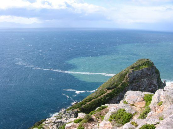 Sometimes it's possible to see the meeting of the two oceans