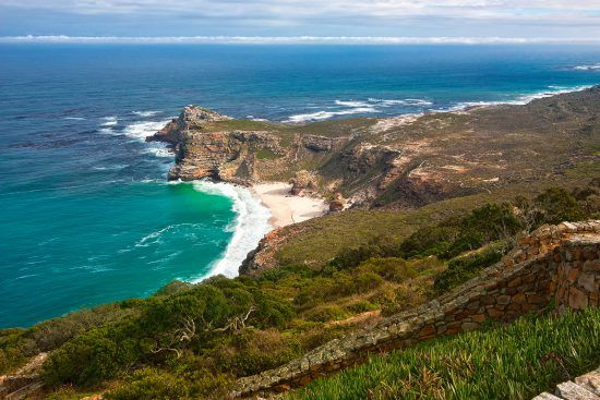 Cape Point is one of the windiest places