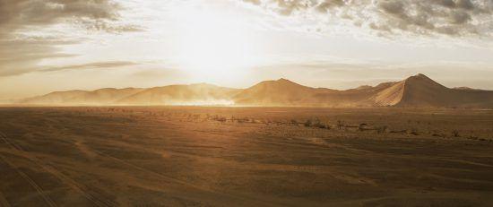 Coucher de soleil en Namibie