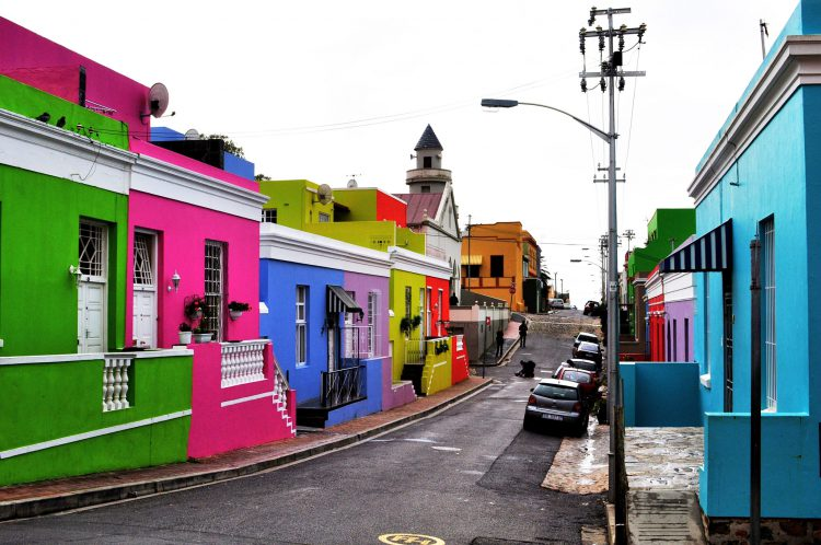 A colorida Bo Kaap na Cidade do Cabo