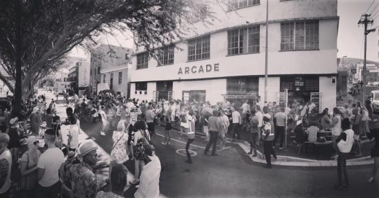 The bustling Bree street at The Arcade, Cape Town
