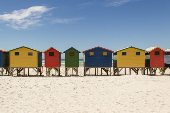 Colourful beach houses are iconic for Muizenberg