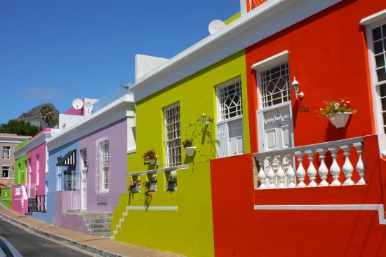 The colourful houses of the Bo Kaap, Cape Town
