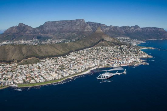 Helicopter flight overlooking Cape Town