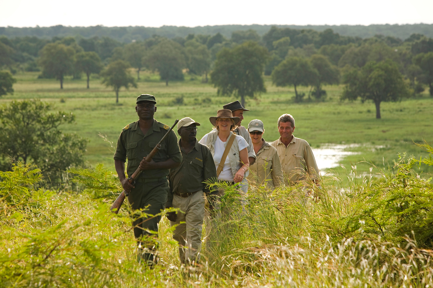 Walking safari in South Luangwa, Zambia