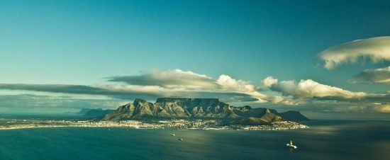 Table Mountain as viewed from the sea