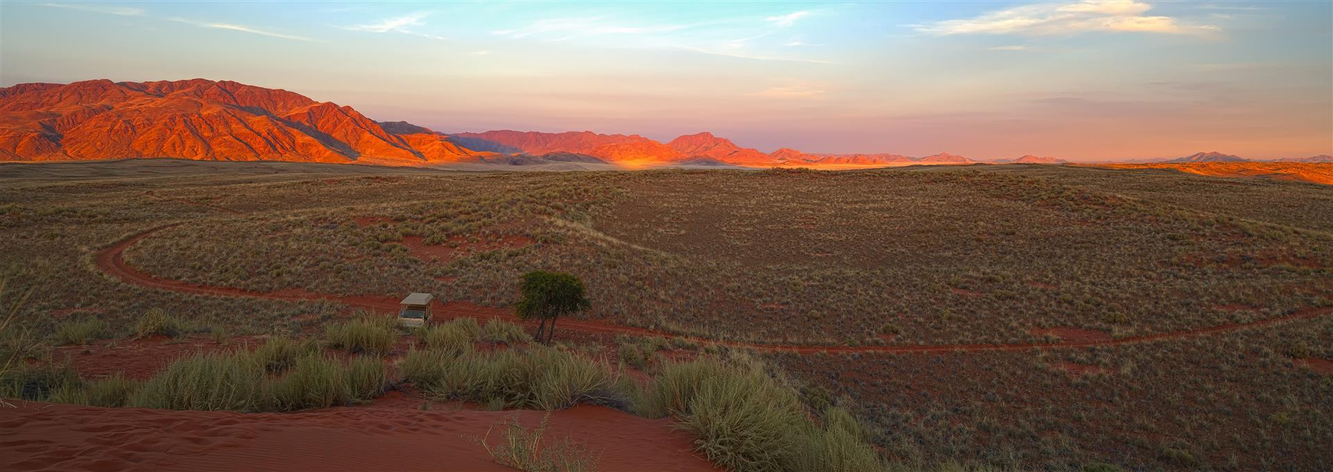 sunset view of Namibia's wilderness
