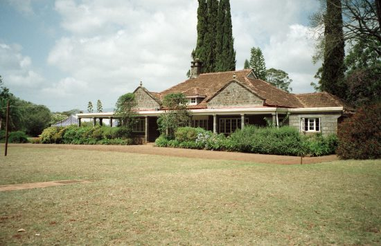 Outside the Karen Blixen Museum