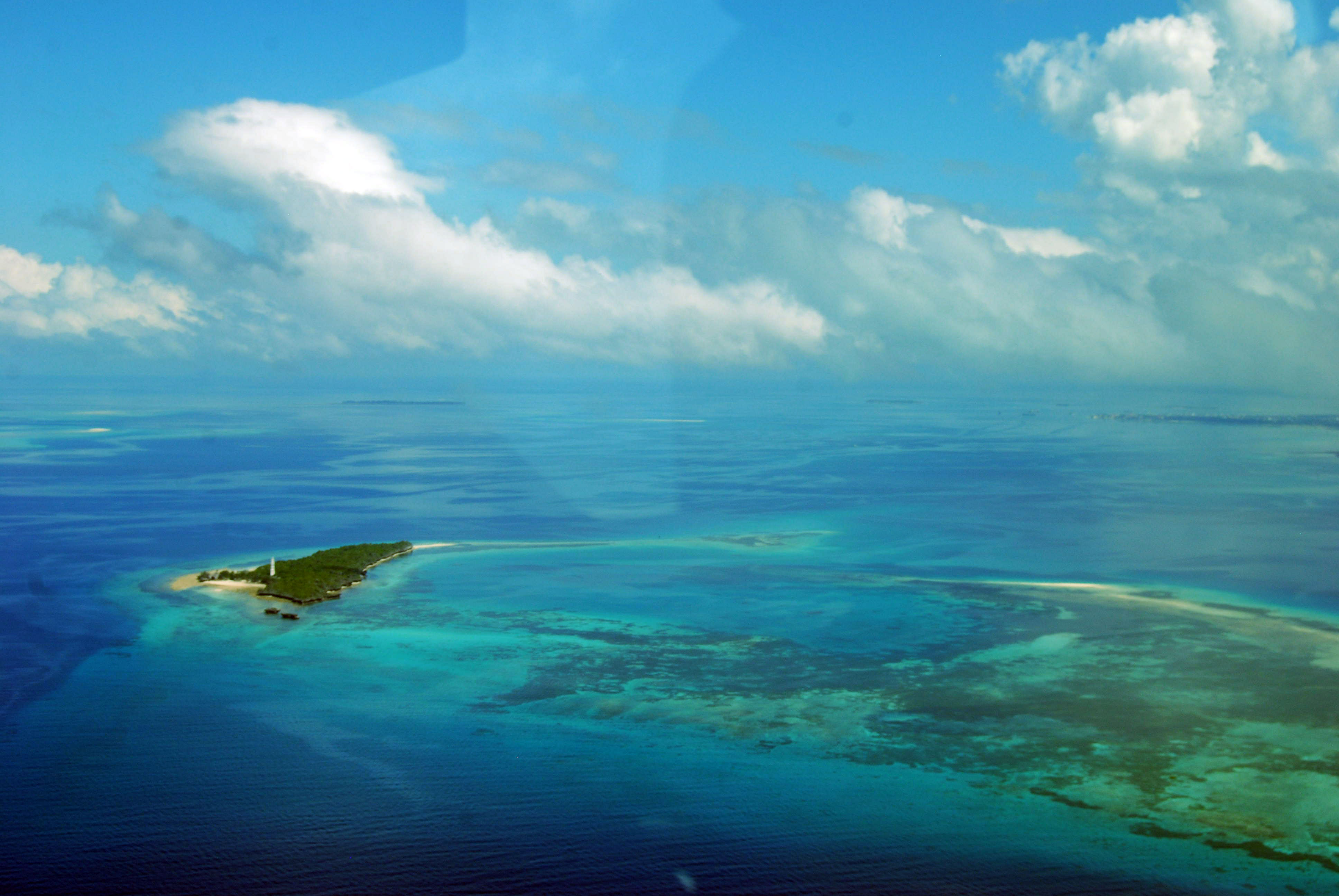 Zanzibar vue du ciel