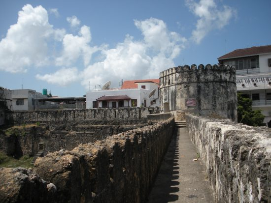 A part of an old castle in Zanzibar