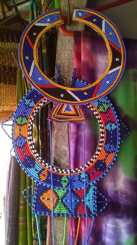 Traditional Maasai Jewelry at Triangle Curio Market, Nairobi