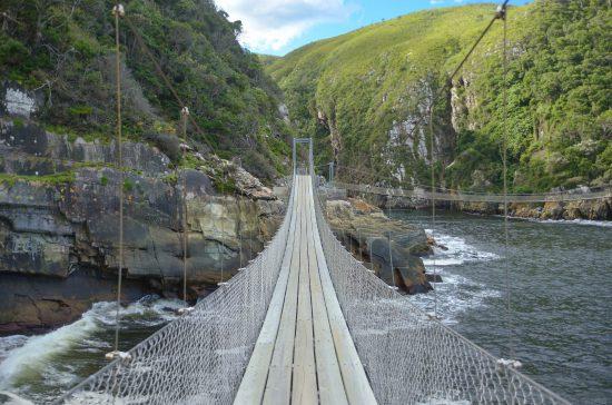 The bridge over the river at Tsitsikamma