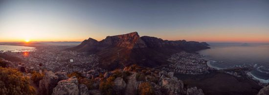 Panorama of Cape Town at sunrise